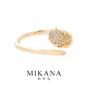 Mikana 18k Gold Plated Miya Ring Accessories For Women