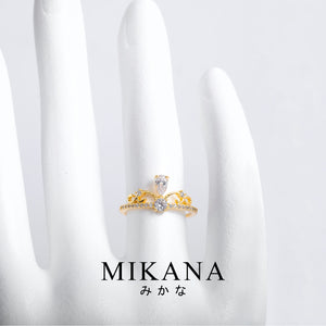 Mikana 18k Gold Plated Nobue Ring Accessories For Women