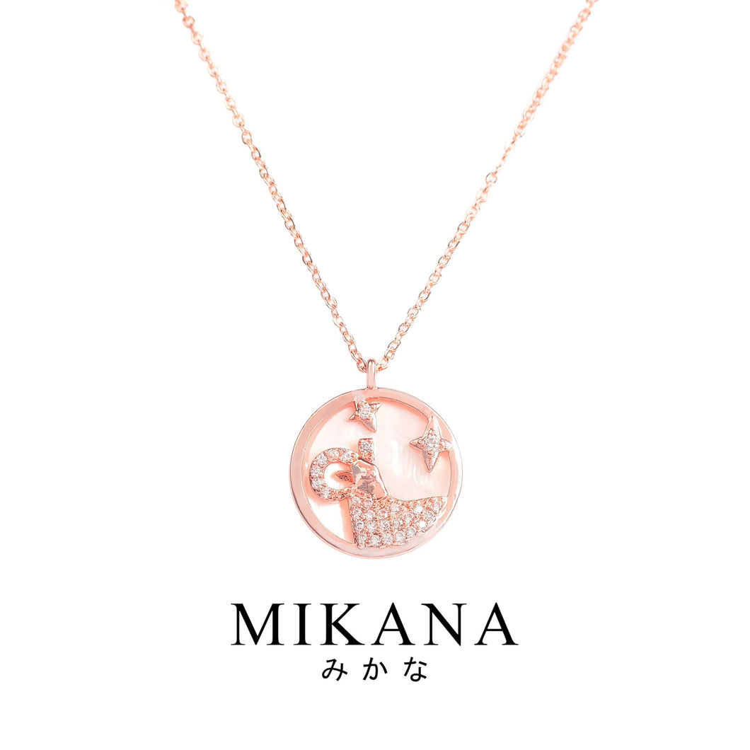 Mikana Zodiac Aries Ohitsujiza 18k Gold Plated Pendant Necklace accessories for women