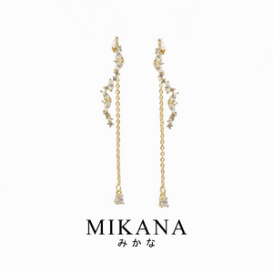 Mikana Hallyu K-drama 18k Gold Plated Legend Of The Blue Sea SeHwa Dangling Earrings Accessories For Women