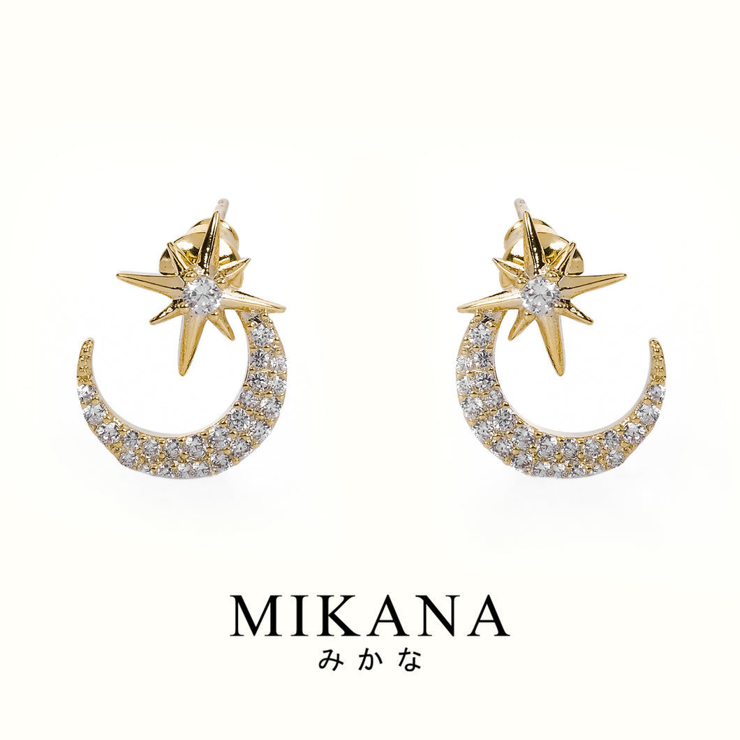Mikana 18k Gold Plated Shouko Stud Earrings accessories for women
