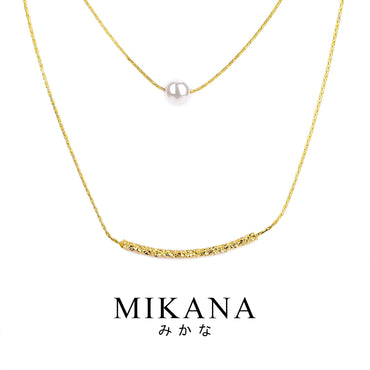 Mikana 18k Gold Plated Sachie Layered Pendant Necklace accessories for women