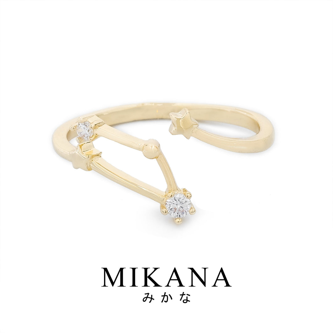 Mikana Constellation 18k Gold Plated Scorpio Kyodai Ring Accessories For Women