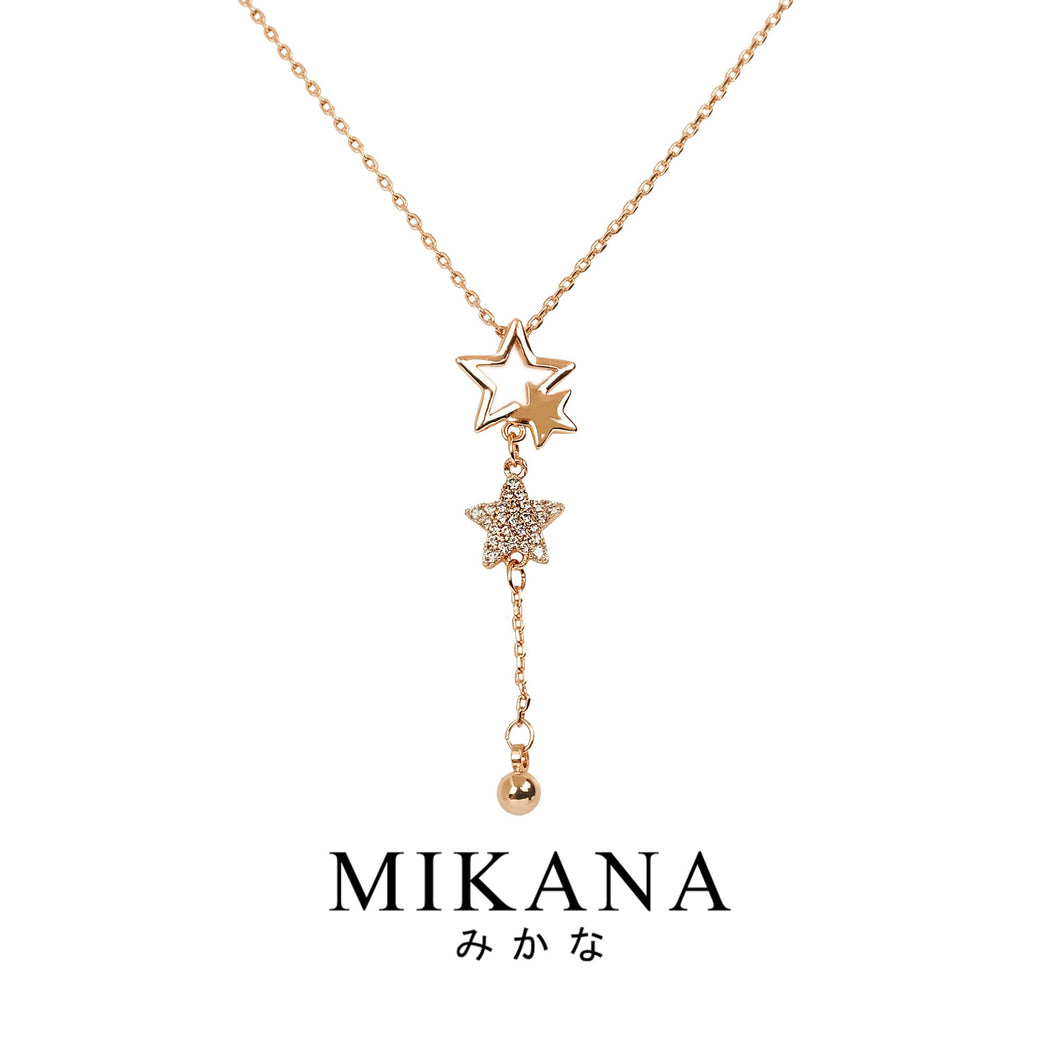 Mikana 18k Rose Gold Plated Suzuhara Pendant Necklace accessories for women