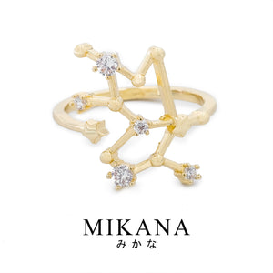 Mikana Constellation 18k Gold Plated Taurus Buru Ring Accessories For Women