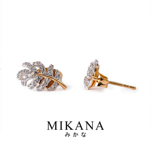 Mikana 18k Gold Plated Tohru Stud Earrings accessories for women