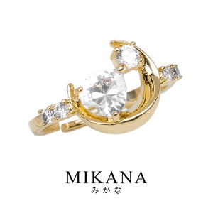 Mikana Magical Girl Mahou Shoujo Sailor Moon Tsukiwa 18k Gold Plated Ring