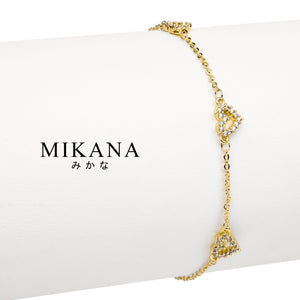 Mikana 18k Gold Plated Tsunade Link Bracelet accessories for women