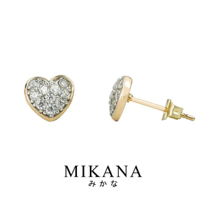 Mikana 18k Gold Plated Utsukushi Stud Earrings accessories for women