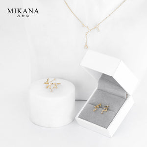 Mikana Constellation 18k Gold Plated Virgo Jewelry Set Accessories For Women