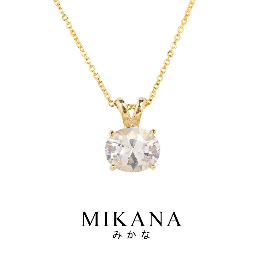 Mikana Royalty 18k Gold Plated Duchess Meghan Markle Pendant Necklace Accessories For Women