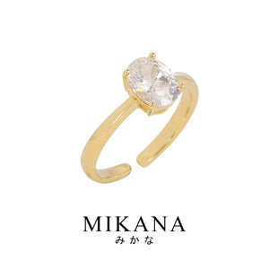 Mikana Royalty 18k Gold Plated Duchess Meghan Markle Ring Accessories For Women