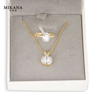 Mikana Royalty 18k Gold Plated Duchess Meghan Markle Jewelry Set Accessories For Women