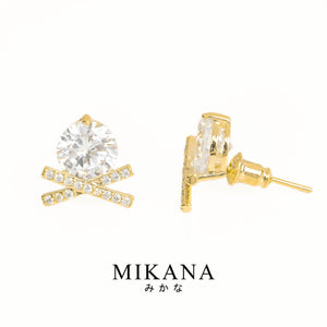 Mikana 18k Gold Plated Yukiwa Stud Earrings accessories for women