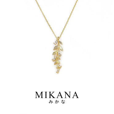 Mikana 18k Gold Plated Yuri Pendant Necklace Accessories For Women