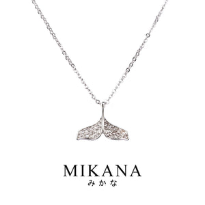 Mikana 14k White Gold Plated Yuzuki Pendant Necklace for women