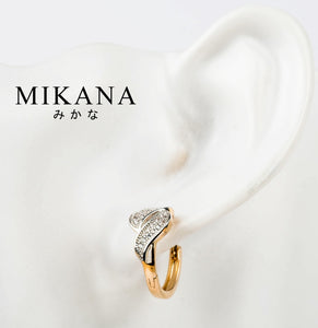 Mikana 18k Gold Plated Iwa Drop Mismatch Earrings accessories for women