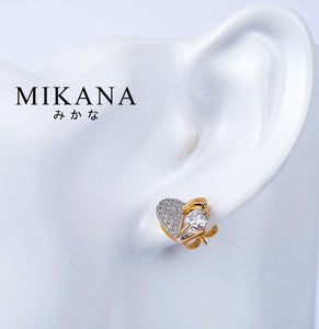 Mikana 18k Gold Plated Yorui Stud Earrings Accessories For Women