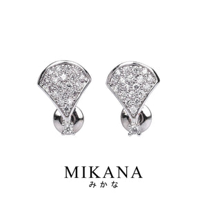 Mikana 14k White Gold Plated Etsuko Drop Earrings accessories for women