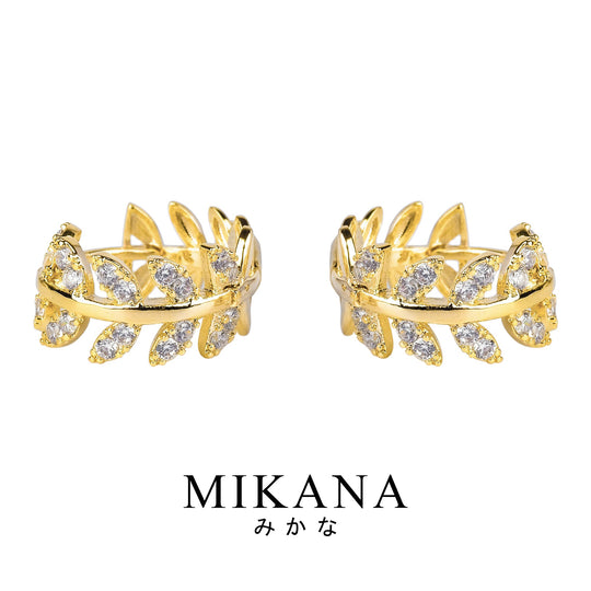 Mikana 18k Gold Plated Hitoha Hoop Earrings accessories for women