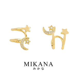 Mikana 18k Gold Plated Hoshitsuki Cuff Earrings accessories for women