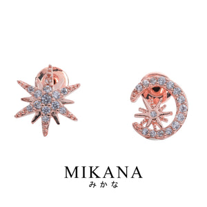Mikana 18k Rose Gold Plated Kirakira Stud Earrings accessories for women