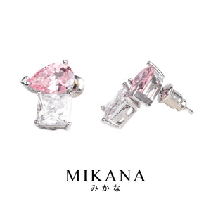 Mikana CLOY 14k White Gold Plated Pinkutama Stud Earrings accessories for women