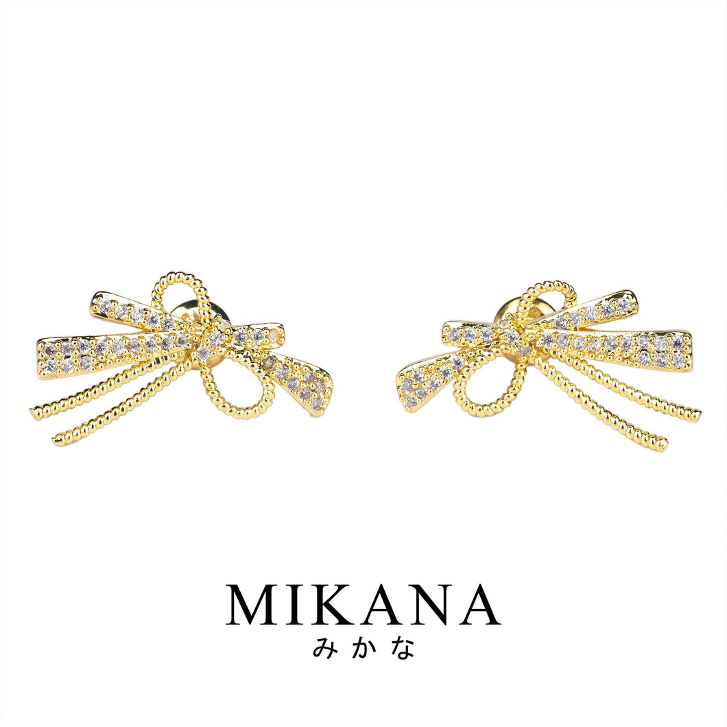 Mikana 18k Gold Plated Rikona Stud Earrings accessories for women