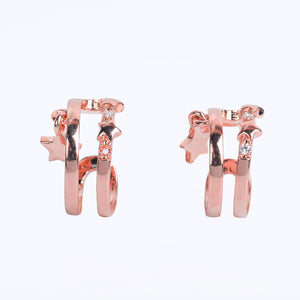 Mikana 18k Rose Gold Plated Tentai Cuff Earrings accessories for women