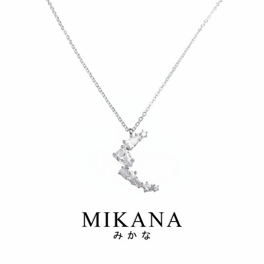 Mikana CLOY 14k White Gold Plated Tsukihi Pendant Necklace Accessories For Women