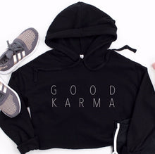 Load image into Gallery viewer, Good Karma Cropped Hoodie