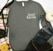 Load image into Gallery viewer, Good Karma long sleeve (women's)