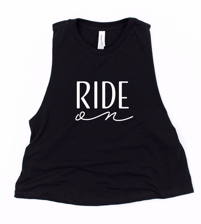 Ride On - Cropped Tank