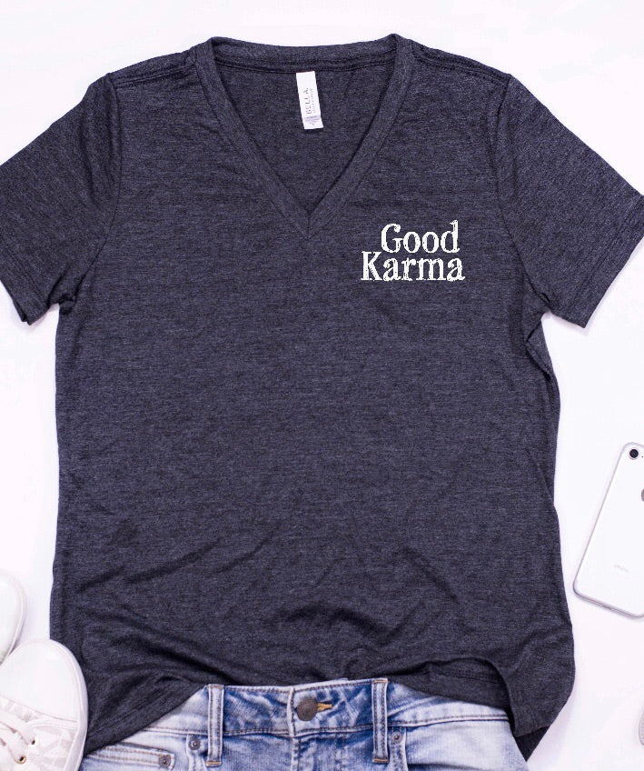 Good Karma V-neck Tee