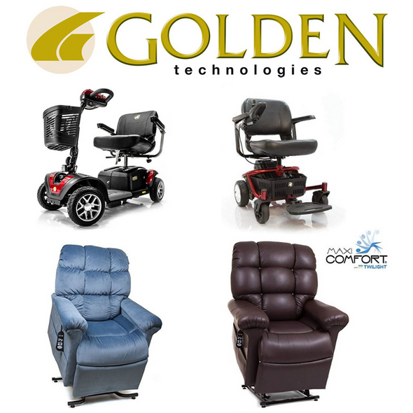 Golden Technologies Lift Chairs, Power Chairs, Recliners, Scooters, Mobility products