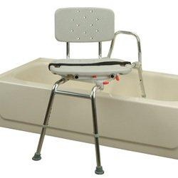 Roscoe Medical Sliding Transfer Bench with Swivel Seat and Back