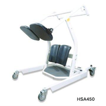 Hoyer HSA450 Manual Stand Aid Patient Lift - 450LB Capacity with Adjustable Base