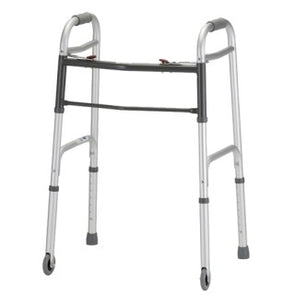 "Nova Medical Folding 2 Button Walker with 3"" Wheels 4090DW3"