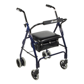 Drive Medical Mimi Lite Push Brake Rollator Rolling Walker