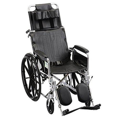 Nova Medical Reclining Wheelchair with Full Arms & Elevating Leg Rests