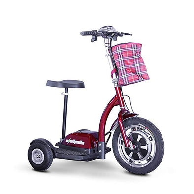 Ewheels Stand and Ride Electric Recreational Scooters – 3 Wheels EW 18 red
