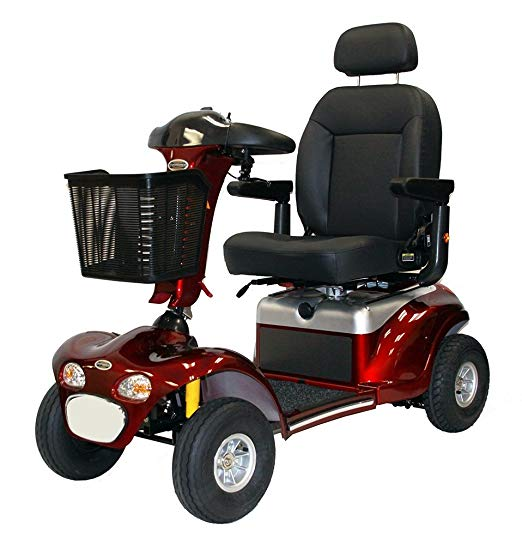 Shoprider Sprinter XL4 Enduro Deluxe Heavy Duty 4-Wheel Scooter – Burgundy