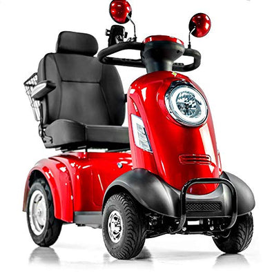 EWheels Heavy Duty Long Range 4 Wheeled Mobility Scooter – Red EW74R
