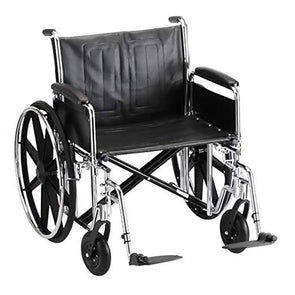 Nova Medical Steel Standard Bariatric Extra Wide Wheelchairs - 24 In Wide