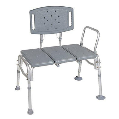 Drive Medical Heavy Duty Bariatric Plastic Seat Transfer Bench - Gray