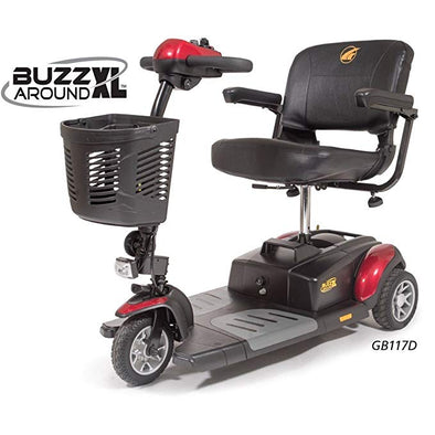 Golden Tech Buzzaround XL 3-Wheel Travel Scooter-Red GB117