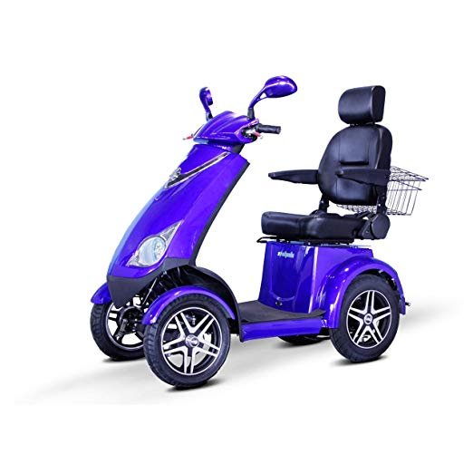 EWheels 4-Wheel Heavy Duty Bariatric Scooter with Electromagnetic Brakes EW-72