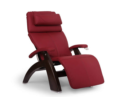 Perfect Chair PC-420 Classic Plus Hand-Crafted Zero-Gravity Dark Walnut Finish Manual Recliners