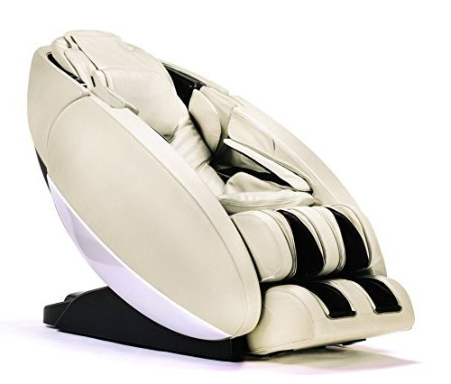 "Human Touch ""Novo"" Full Body Coverage Zero-Gravity L-Track Massage Chairs Cream"