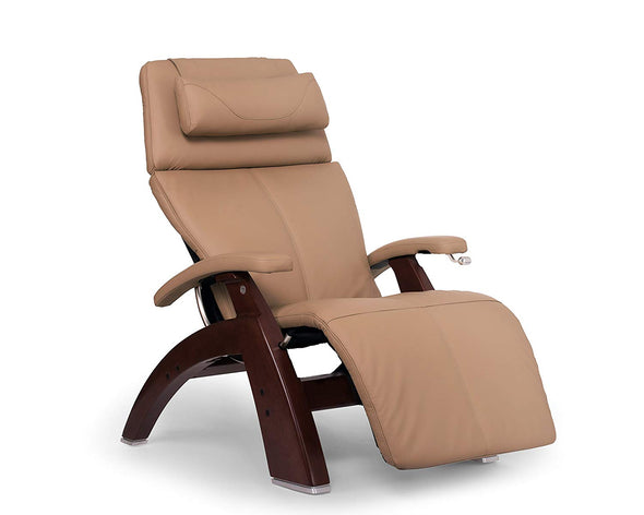 Human Touch Perfect Chair PC-420 Classic Plus Hand-Crafted Zero-Gravity Chestnut Finish Manual Recliners